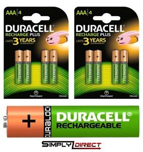 Duracell-AA-amp-AAA-Rechargeable-Ultra-Stay-Charged-Batteries-HR6-HR03-Duralock