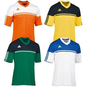 beba69604 adidas Climalite Mens Autheno Football Training Top Jersey T Shirt ...