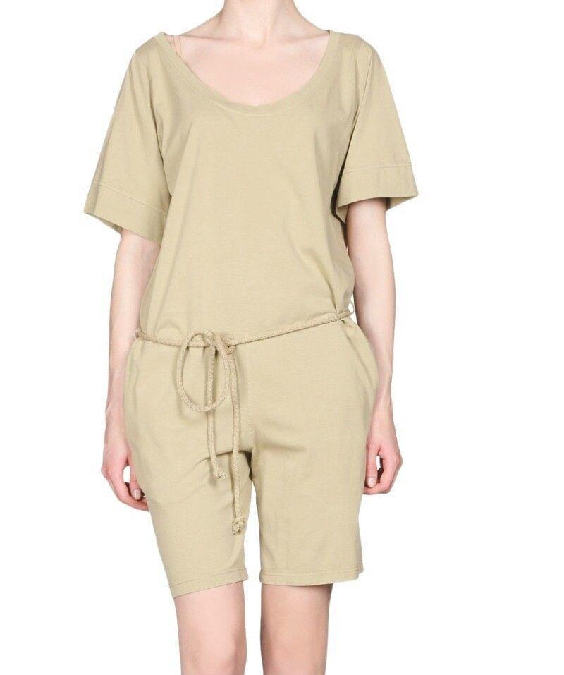 STELLA MCCARTNEY Tan Cotton Cut Out Belted Jumpsuit Playsuit Romper  8