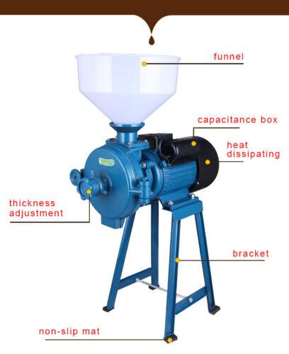 Elektrische Futtermühle 1,5KW Stroh Futter Mühle Schredder Getreidemühle Mill
