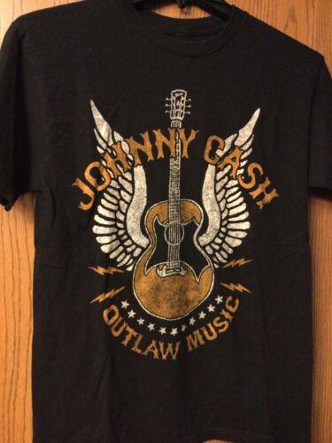 Johnny Cash - Black Shirt.  M.