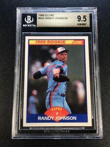RANDY JOHNSON 1989 SCORE #645 ROOKIE RC BGS 9.5 EXPOS MLB HALL OF FAMER