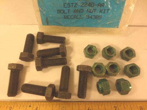 "FORD 1980//05 /""BOLT /& NUT KIT/"" REAR BRAKE BACKING PLATE 8 PCS  BOLT /& NUT 3//8-24"