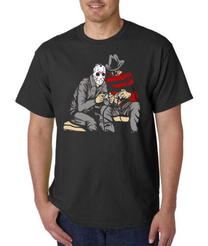 Evil Killers Funny Horror Halloween Gamer Tee Hockey Mask Dark Gamer T-Shirt