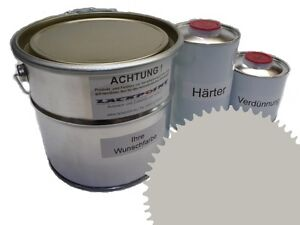 1,5 Liter Set 2K Floor Coating Ral 7044 Grey Shine Floor Color Workshop New