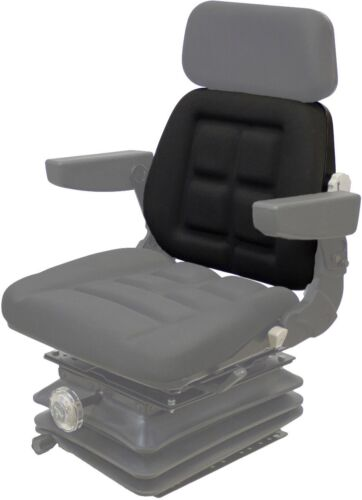 3 Twist Clips on Top Black Vinyl Backrest Cushion for Pilot Seat Fast Shipping