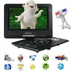"""9"""" inch Portable DVD Player with Game/ U Drive/ FM/ TV/ USB +Remote Control Q7FK"""