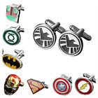 Buy 2 Get 1 Free Superhero Justice League The Avengers Men's Wedding Cufflinks