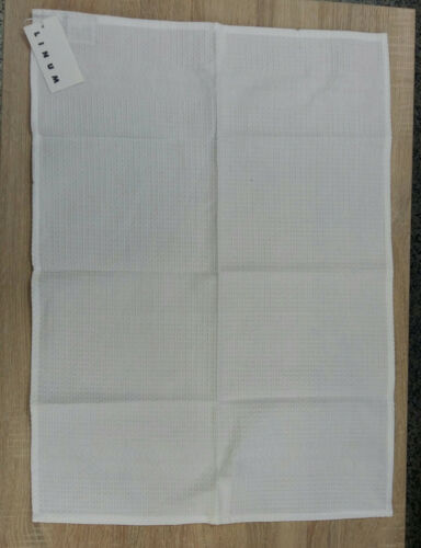 Linum Geschirrtuch Waffel Piqué Fb.IO1 weiß  50x 70 cm  Baumwolle