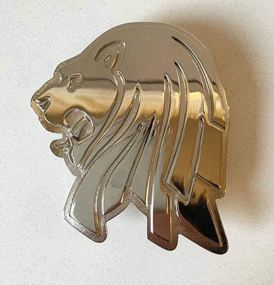 Chrome Lion Head Belt Buckle