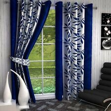 Premium Blue Kolaveri 7Ft Door Curtains-Set of 2