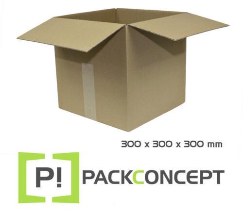 Faltkarton 1-wellig 300 x 300 x 300 mm; Karton; Pappkarton; Versandkarton
