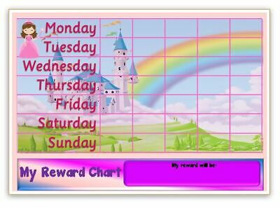 Reusable REWARD CHART-Behaviour//Potty-SEN-Free Pen//Stickers MAGNETIC-TRAIN