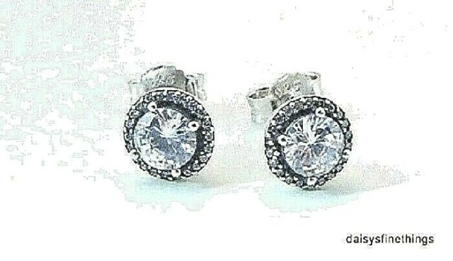 5c90da247 Authentic PANDORA Classic Elegance Stud Earrings Clear CZ 296272CZ ...