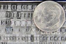Metal Letterpress Print Type Import Stempel 12pt Palatino Bold Face Mn67 3