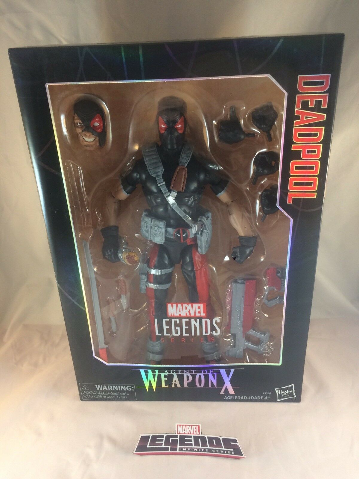 MARVEL LEGENDS HASBRO 2017 DEADPOOL WEAPON X 12  FIGURE UNOPENED NEW IN HAND