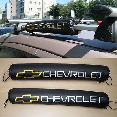 Logo Roof Rack Pad Black Color Cushion 2pcs For Chevrolet