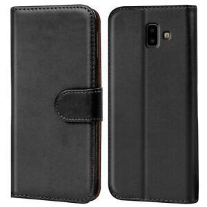 Samsung-Galaxy-J6-Plus-Handy-Klapp-Tasche-Schutz-Huelle-Book-Flip-Cover-Case-Etui