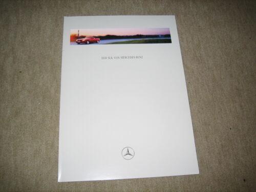 Mercedes SLK R170 Prospekt brochure von 8//1996 42 Seiten
