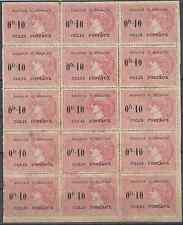 MADAGASCAR COLIS POSTAUX N°3 BLOC DE 15 AVEC 3 VARIÉTÉS NEUF ** COTE MAURY 735€