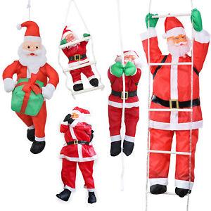 Weihnachtsmann 60 cm auf Leiter Außendekoration Dekoration Weihnachten Xmas NEU