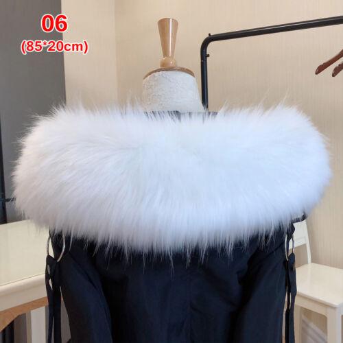 Warmer Coat Fur Collar Lady Fur Collar Hooded Jacket Fur Decor  Faux Raccoon