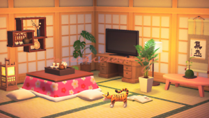 Acnh Cute Japanese Living Room Design Animal Crossing Ebay