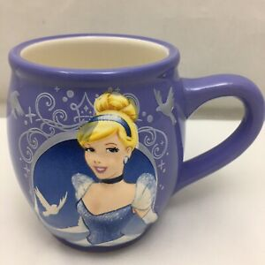 Cinderella Coffee Mug Disney Purple White Doves Ceramic Cup Embossed Disney Ebay