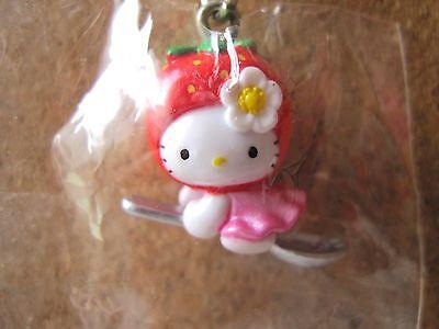 Sanrio Hello Kitty Strawberry Netuske Charm Mascot Cell Phone Strap Japan New