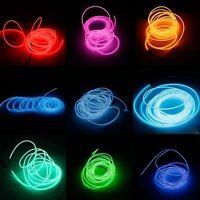 3m Led Flexible Soft Light Tube W/ Controller Xmas Party Car Lamp Multi-color