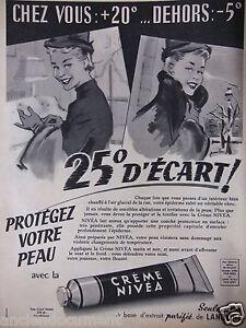 PUBLICITE-DE-PRESSE-1957-CREME-NIVEA-A-BASE-D-039-EXTRAIT-PURIFIE-DE-LANOLINE