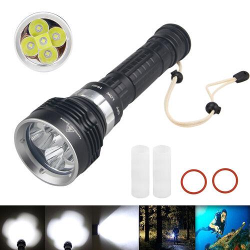 Details about  /Underwater 5x XML L2 LED Super Bright Scuba Diving Flashlight Light Flashlamp