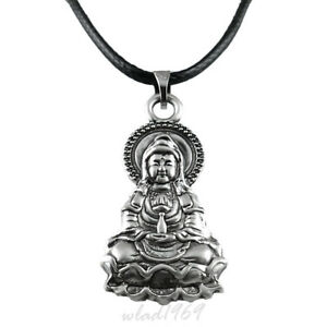 Kette Mit Anhanger Buddha Amulett Buddhismus Symbol Pendant