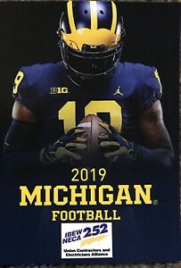 2019 Michigan Wolverines Football Schedule Very Cool Sked Ebay