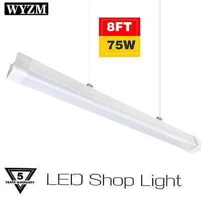 150W Equivalent 5500K Frosted LED Garage Light 8FT LED Vapor Proof Fixture 72W