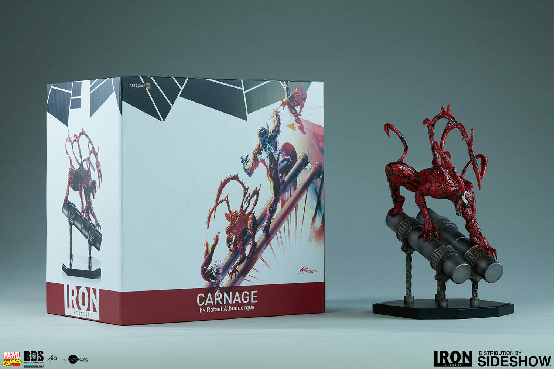 Marvel Carnage Statue Raphael Albuquerque Art Scale 1 10 Iron Studios Sideshow