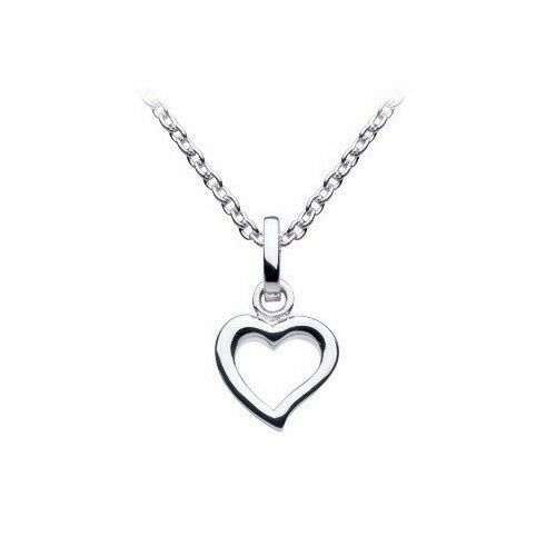 Dew 925 Sterling Silver Small Open Heart Necklace Bridesmaid Flower girl