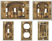 Wine Bottles Light Switch Plate Covers Multi Sizes