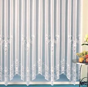 Gardinen Store 245x300 weiß mit Kräußelband Typ35 | eBay