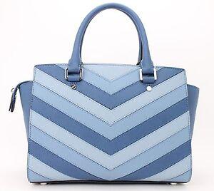 Michael Kors Selma Medium Top Zip Satchel (Multi-Colored Blue ... 4357536f9d