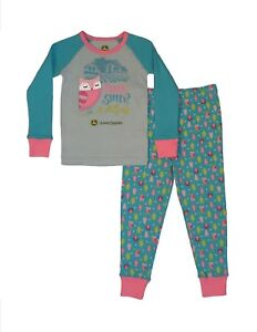 1e6ec29e9 NEW TODDLER John Deere 2 pc Pajama Set Owl Hoo s Sleepy  Sizses 2T ...