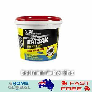 Details about Ratsak Fast Action Wax Block - 66 Pack