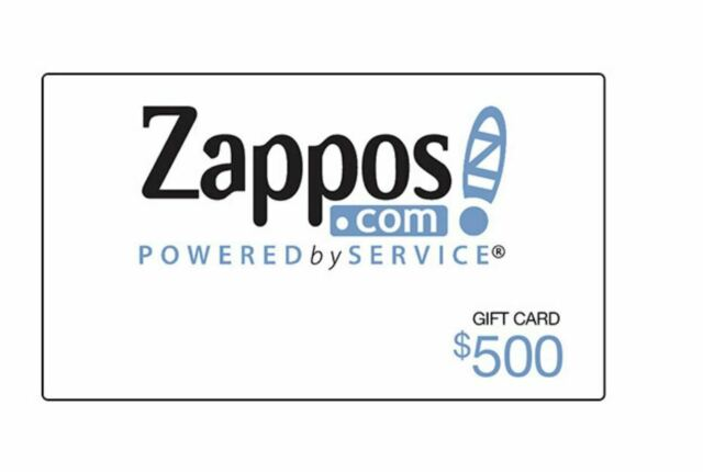 Zappos.com Gift Card Zapos.com  | $500 USD | Fast Free Delivery | Read descript.