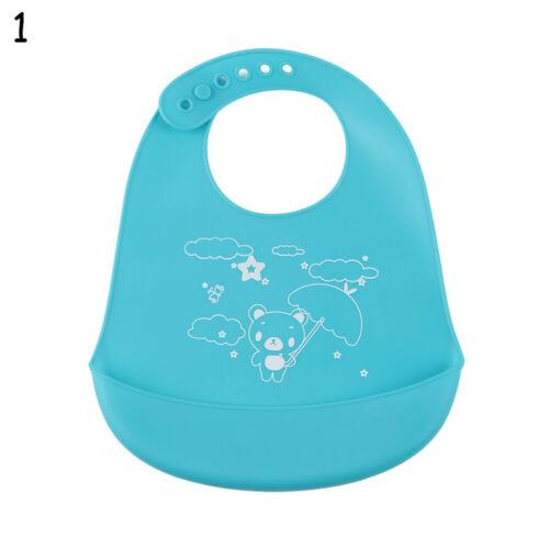 Children Waterproof Feeding Baby Silicone Bibs Pick Rice Pocket Kids Apron