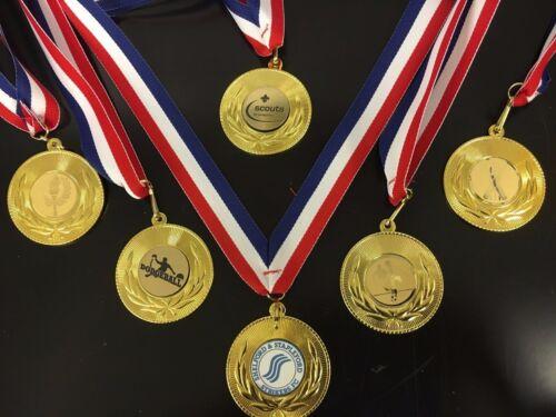 Sports/réalisation médailles sur un ruban, un sport, d'aussi peu que 85p chaque