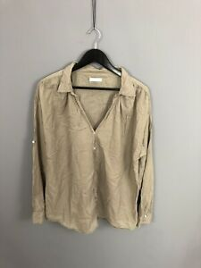 WHISTLES-Shirt-Size-UK16-Beige-Great-Condition-Women-s