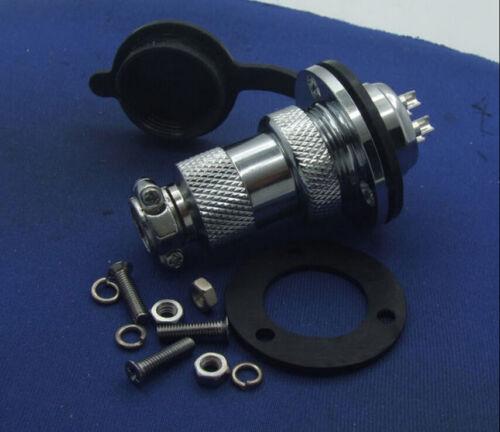 5 set GX20 7-Pin Aviation plug Disc flange XLR Radio 19mm 20mm Panel waterproof