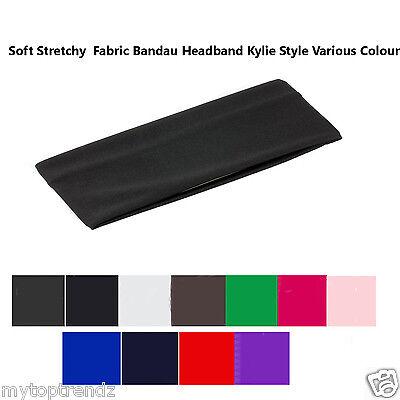 7cm Plain Stretchy Kylie Band Headband Hairband Make up Ladies Sports hair