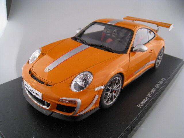 Porsche 911 (997) gt3 RS 4.0 en arancia Autoart escala 1 18 nuevo embalaje original