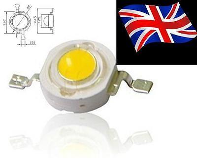 10pcs 2W 4-chips High Power white 6000-65000k DC12-14v 180-200lm led beads
